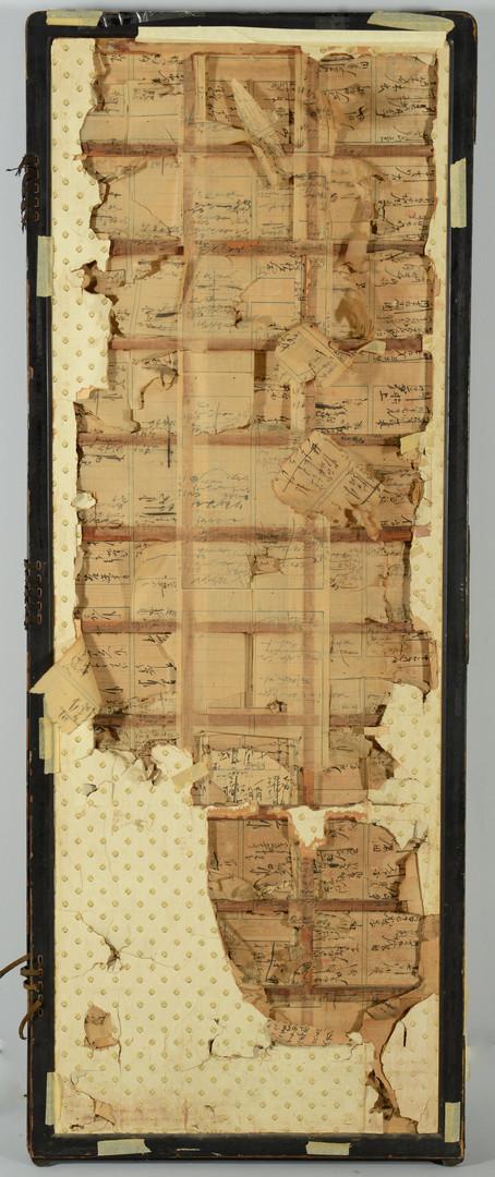 Lot 28: Meiji Japanese Silk Floor Screen