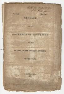 Lot 293: James K. Polk signed address