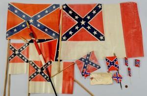 Lot 299: 14 Confederate Reunion Flags