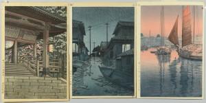 Lot 29: 3 Hasui and Koitsu Woodblock Prints