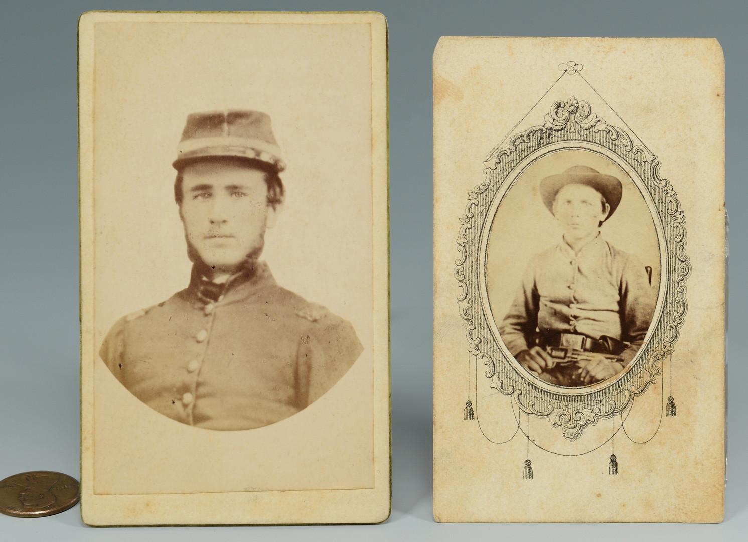 Lot 301: 2 East TN Confederate CDVs