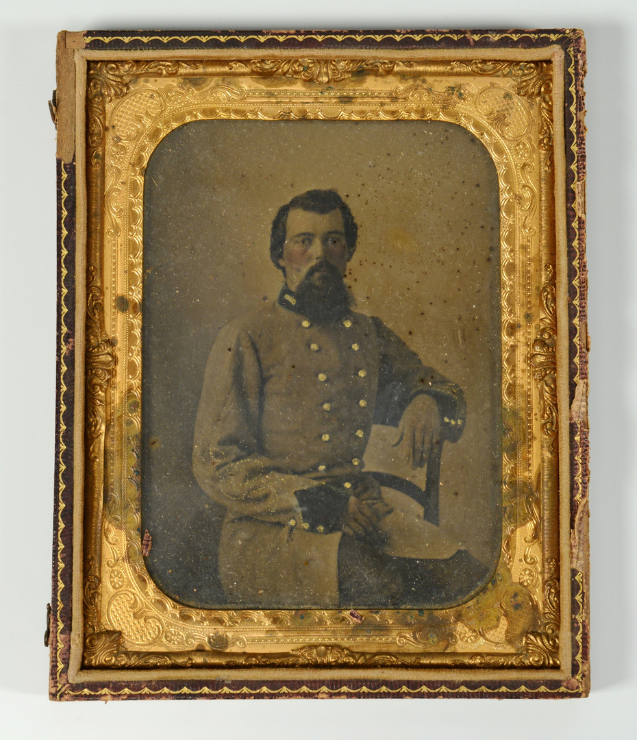 Lot 302: Half Plate TinType of CSA Officer
