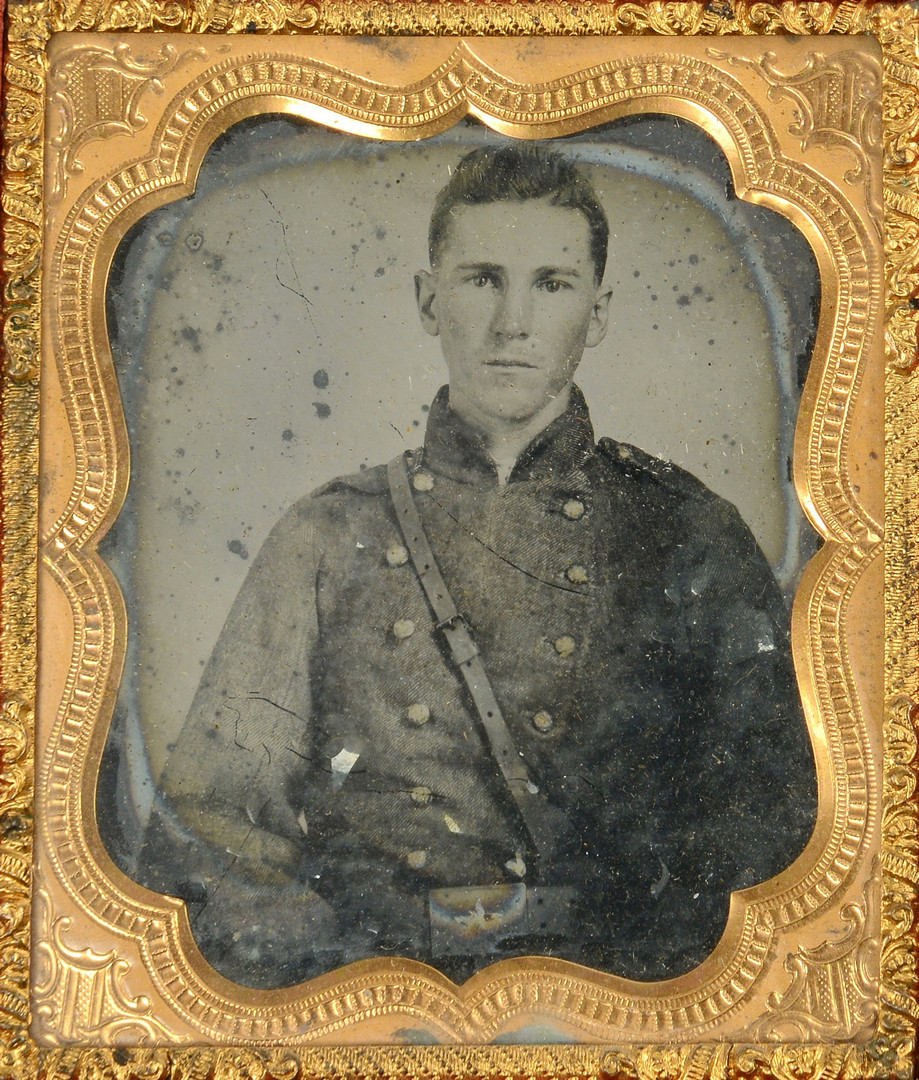 Lot 303: Civil War Tintype of Mississippi Confederate Soldi