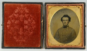 Lot 304: Civil War Tintype, Confederate Officer