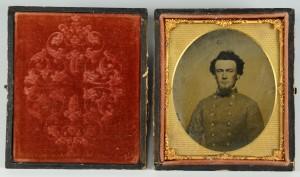Lot 304: Civil War Tintype, Confederate Officer
