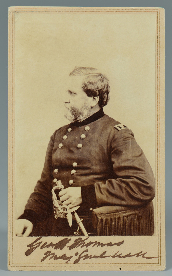 Lot 306: Civil War Gen. Thomas signed CDV