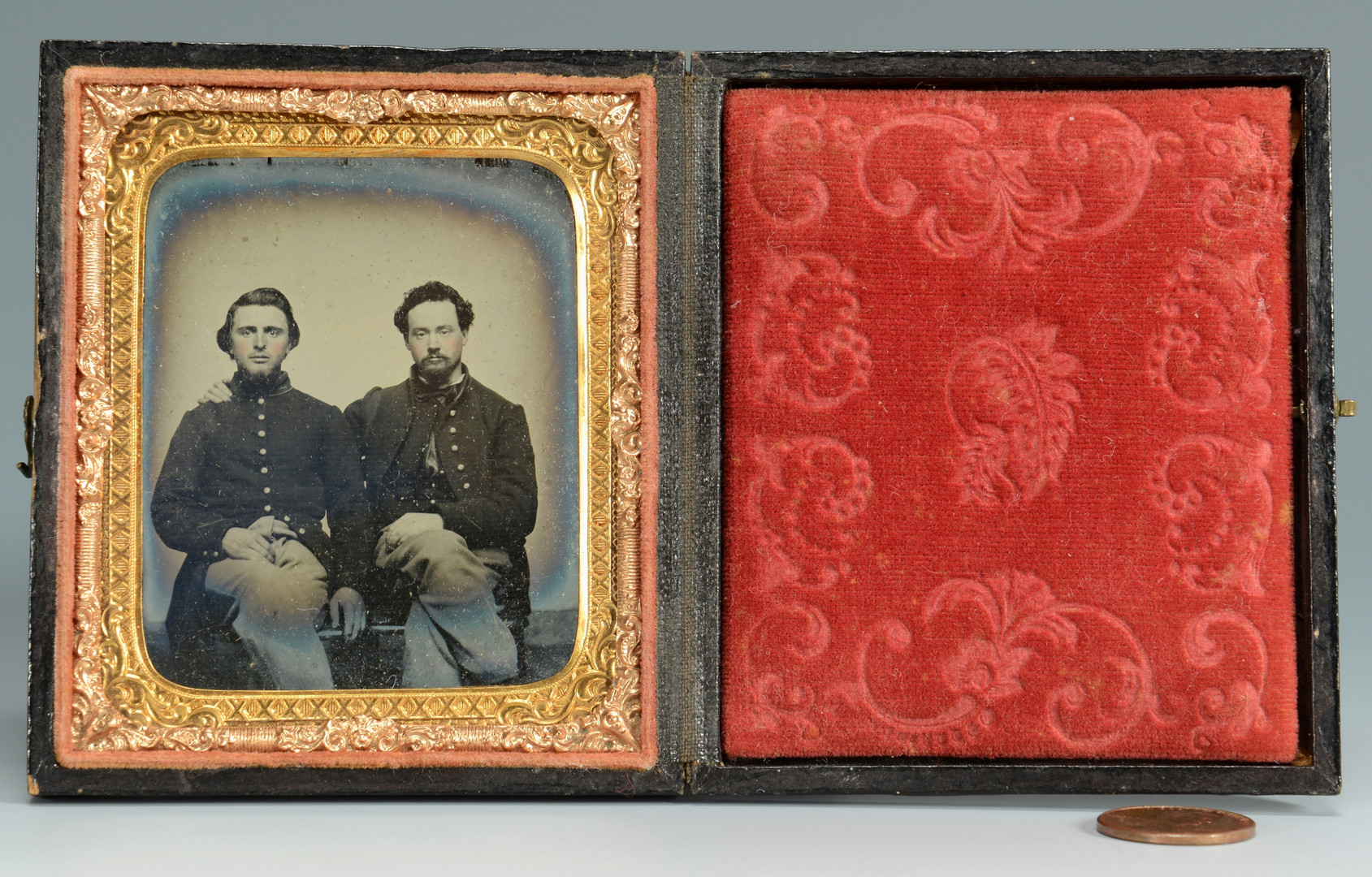 Lot 307: Civil War Union Brothers, Ambrotype