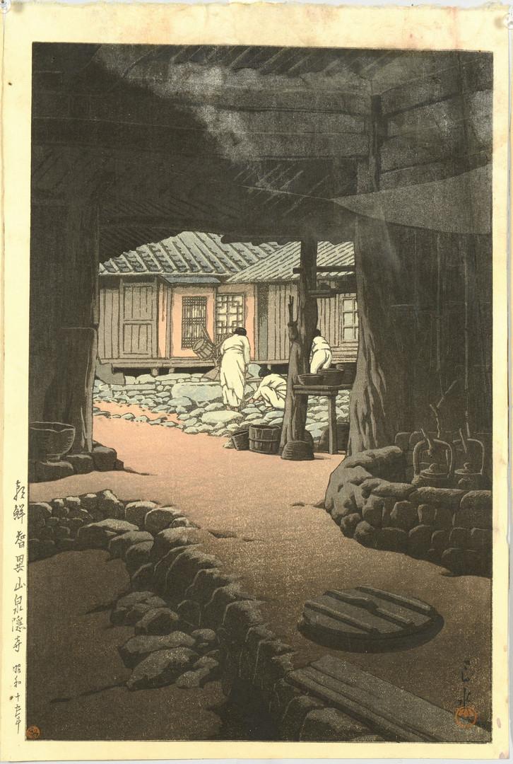 Lot 30: 3 Hasui Japanese Woodblock Prints