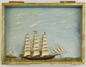 Lot 311: Large Folk Art Ship Diorama