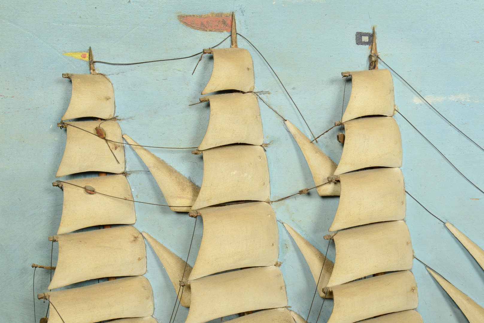 Lot 311: Large Folk Art Ship Diorama