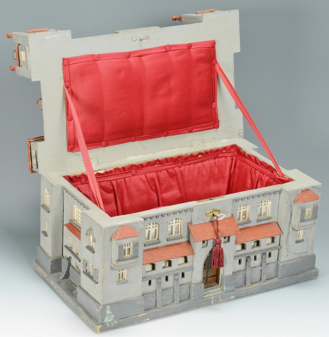 Lot 312: Folk Art Castle Jewelry Box