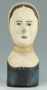 Lot 313: 19th Cent. French Papier Mache Wig Stand