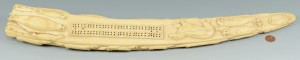 Lot 319: Early Inuit Carved Cribbage Board, Walrus