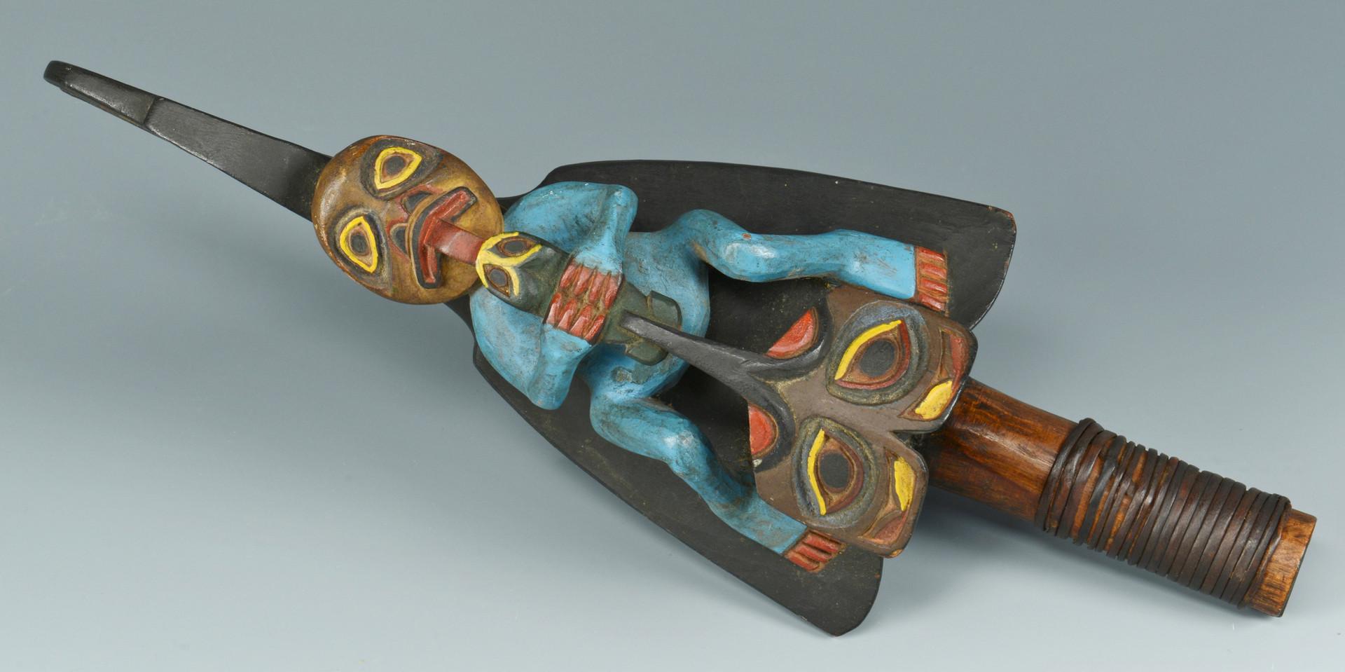 Lot 320: Northwest Tlingit Carved Rattle