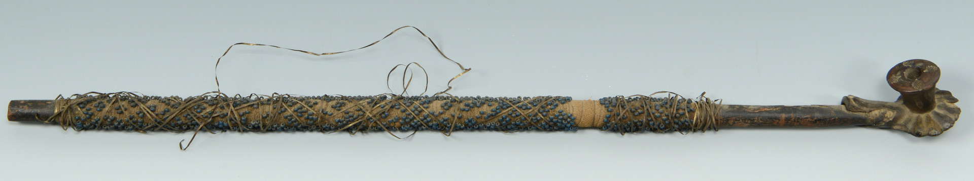 Lot 323: Plains Indian Beaded War Club and Pipe