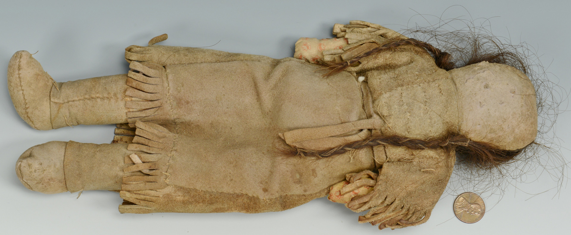 Lot 325: Plains Indian Doll & Early Pouch