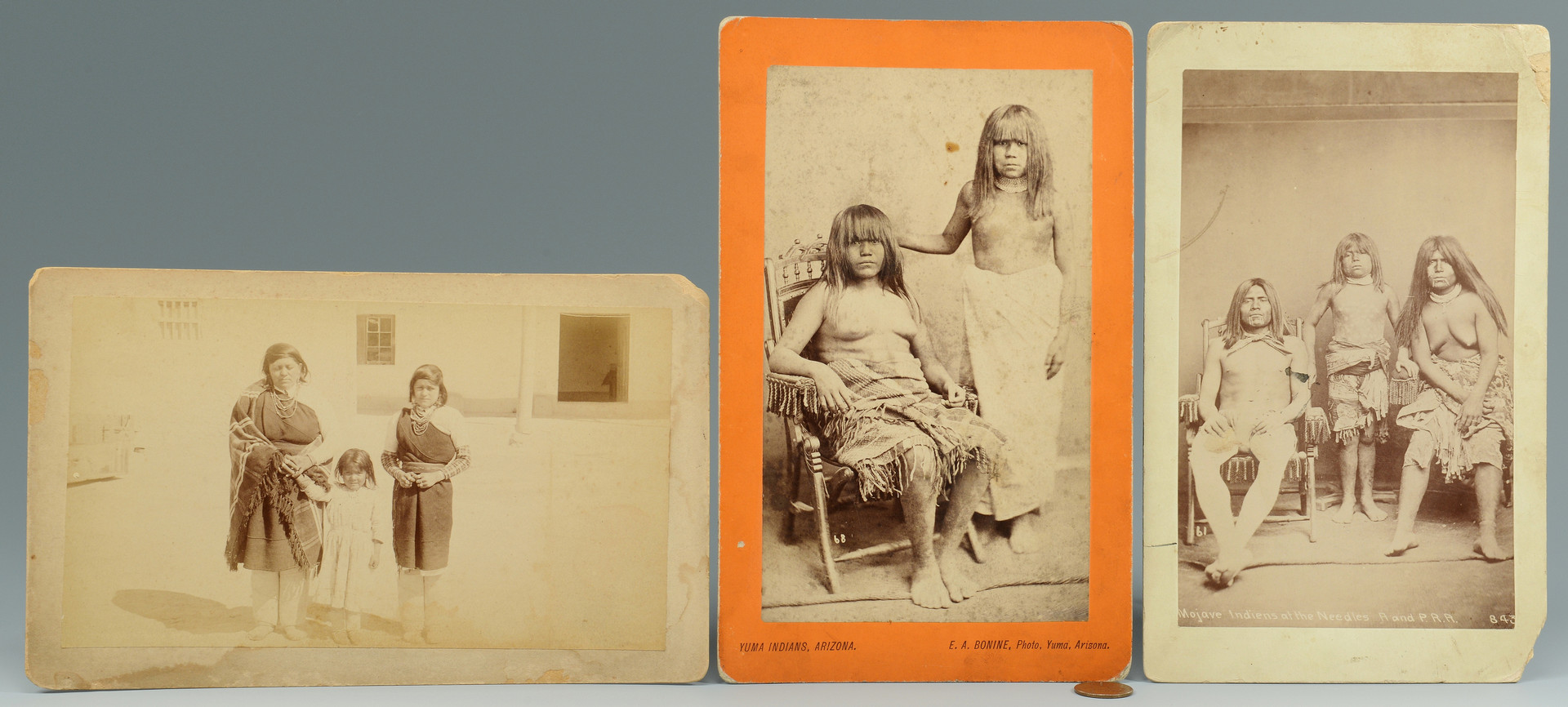 Lot 330: 3 cabinet cards – Navajo, Yuma, & Mohave