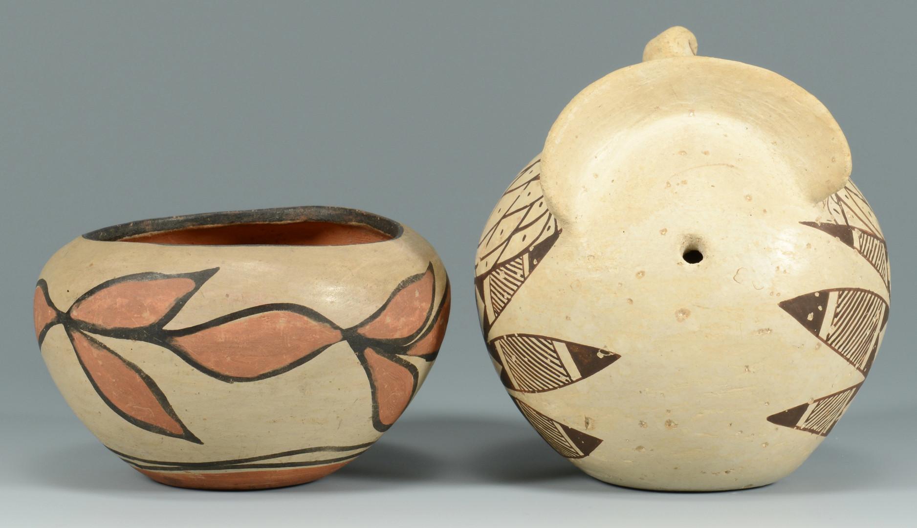 Lot 333: Native Am. Baskets, Pottery