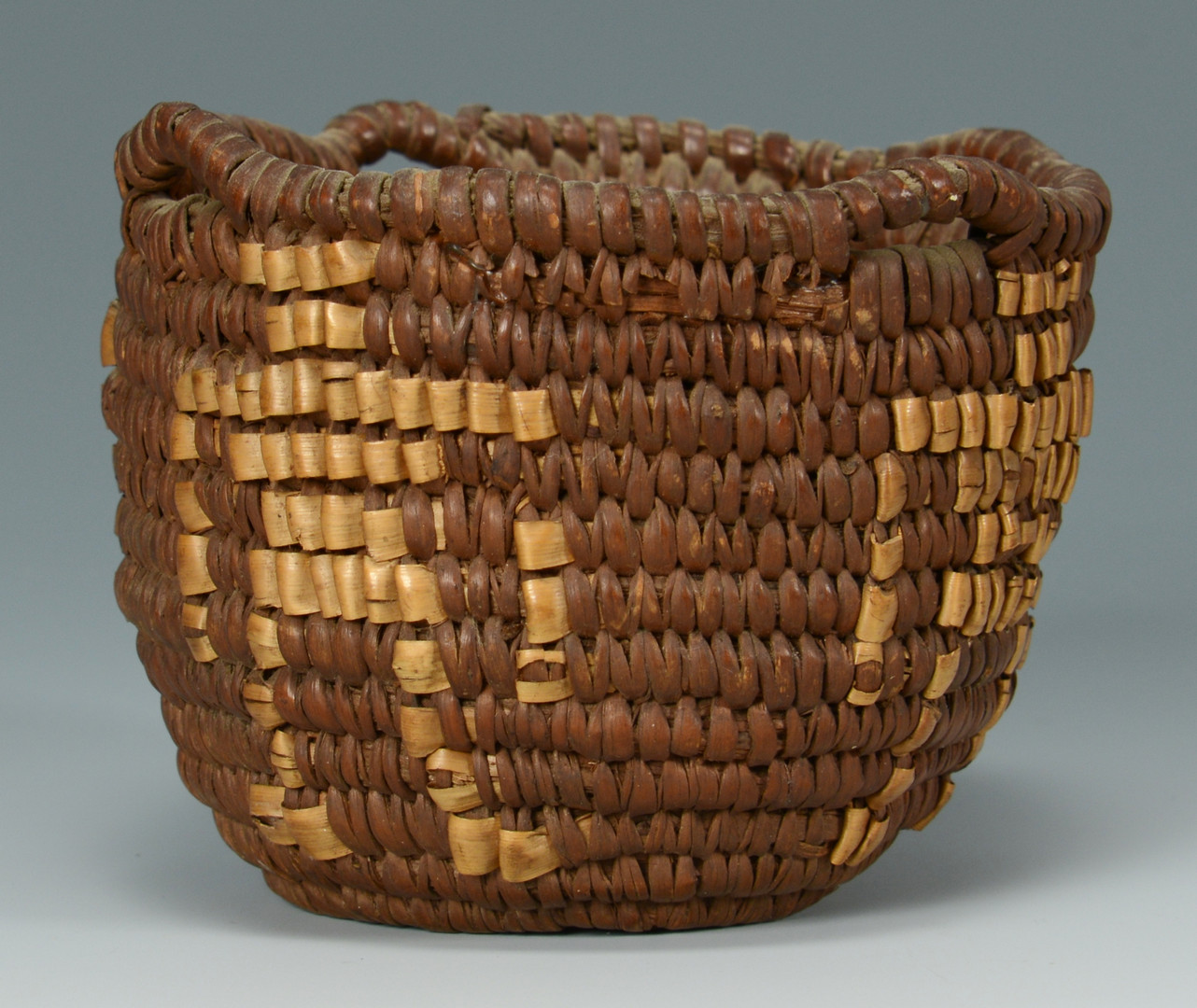 Lot 334: 2 Southwest Indian figural baskets