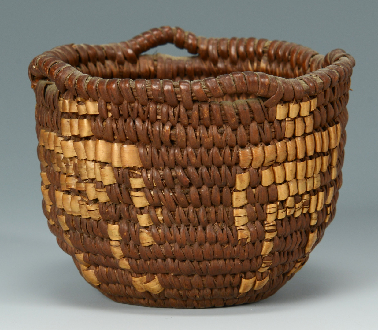 Lot 334 2 Southwest Indian Figural Baskets