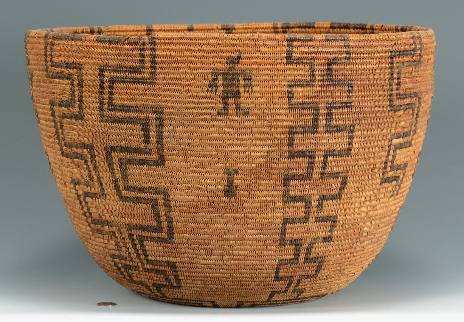 Lot 336: Large Apache Figural Basket