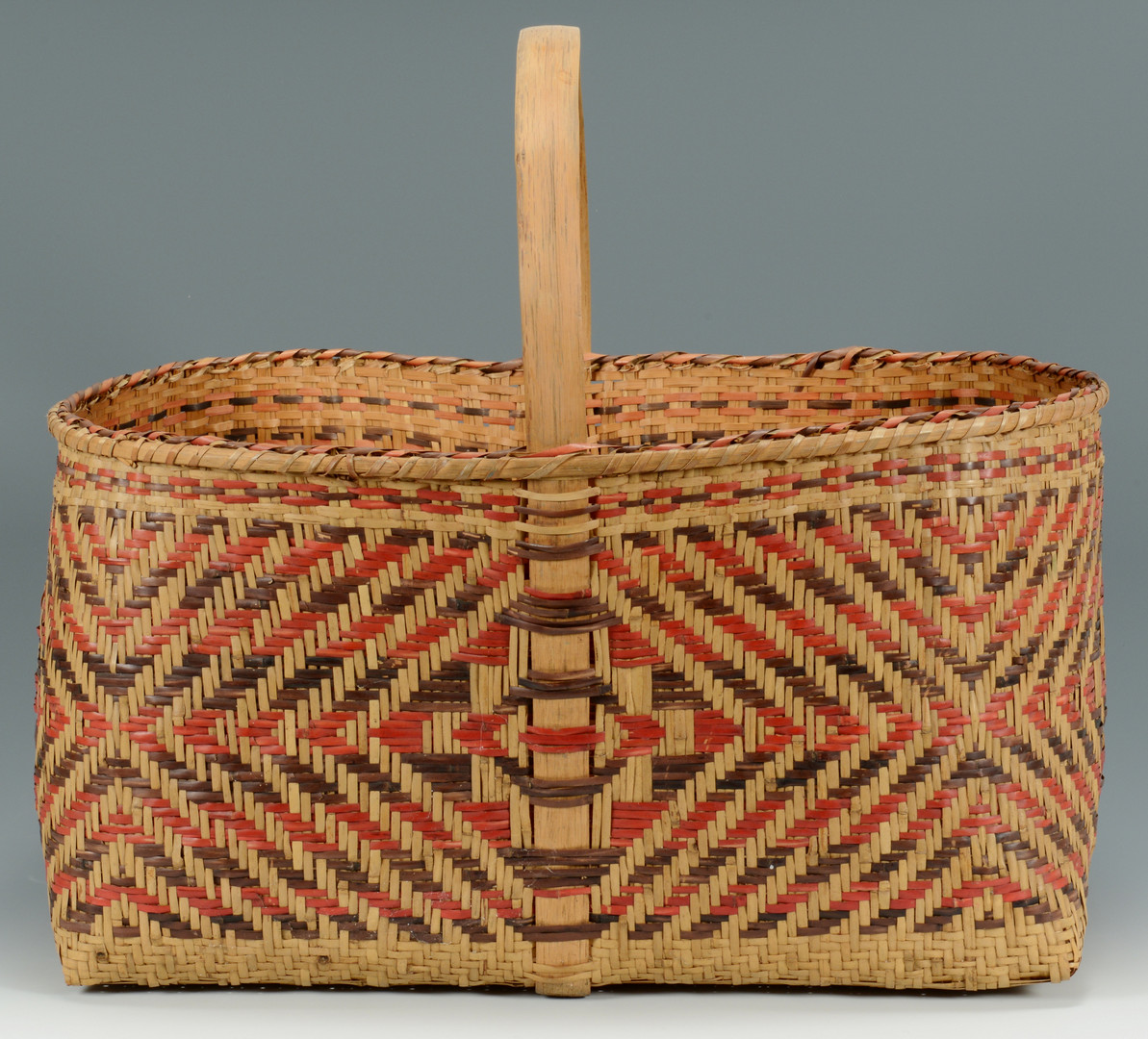 Lot 337: Large Cherokee Rivercane Carrying Basket