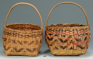 Lot 340: 2 Cherokee Rivercane Carrying Baskets