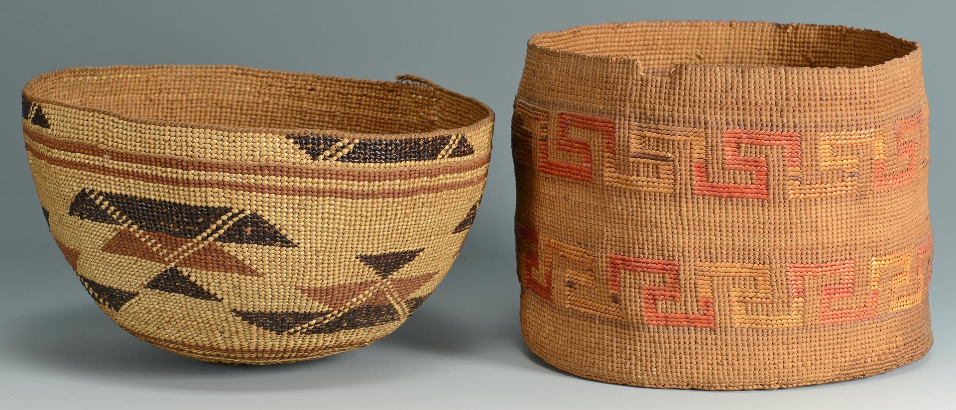 Lot 342: 2 Northwest Indian Baskets, Tlinglet or Karok