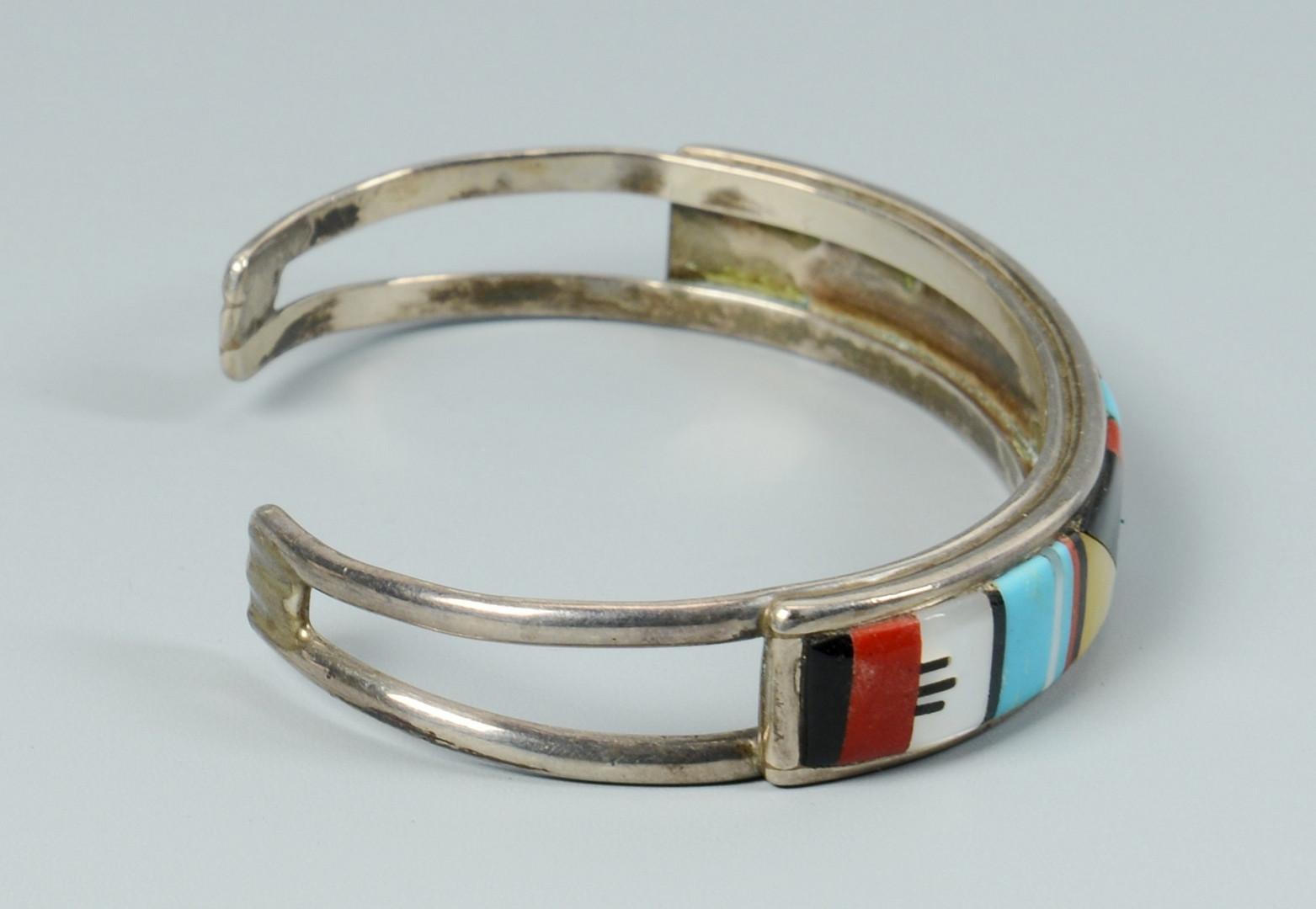 Lot 346: Zuni Bolo & Bracelets inc. Jim Harrison