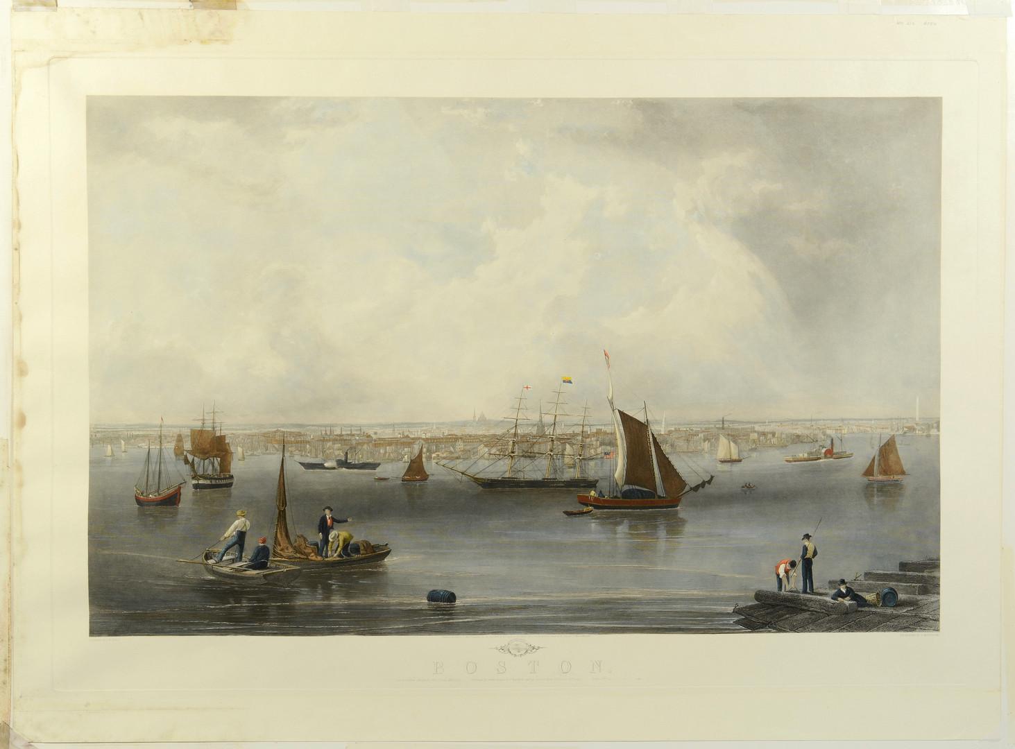 Lot 34: Large folio Boston Engraving