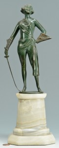 Lot 351: Art Deco Bronze Fencer