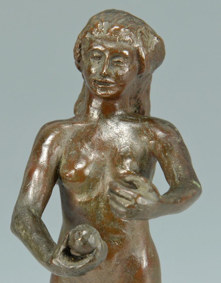 Lot 352: 2 Bronzes of Females & Snakes