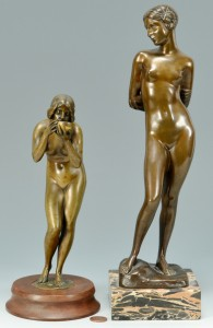 Lot 353: 2 Bronze Nudes, Seifert and Seger
