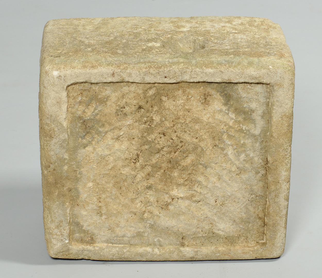 Lot 355: William Edmondson Limestone Basin