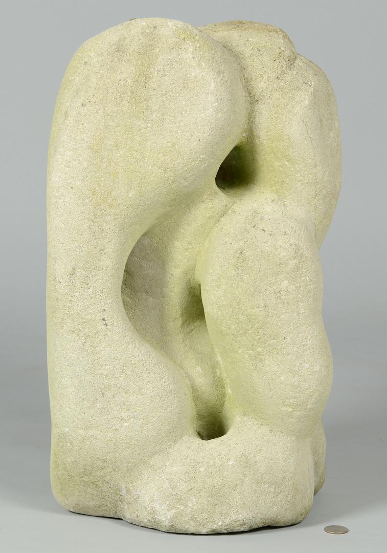 Lot 356: Limestone sculpture attr. Puryear Mims