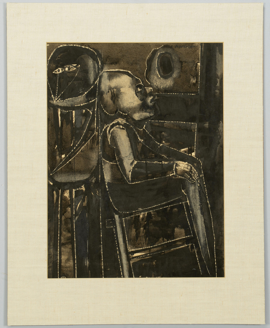 Lot 359: Robert Broderson, Man in Chair