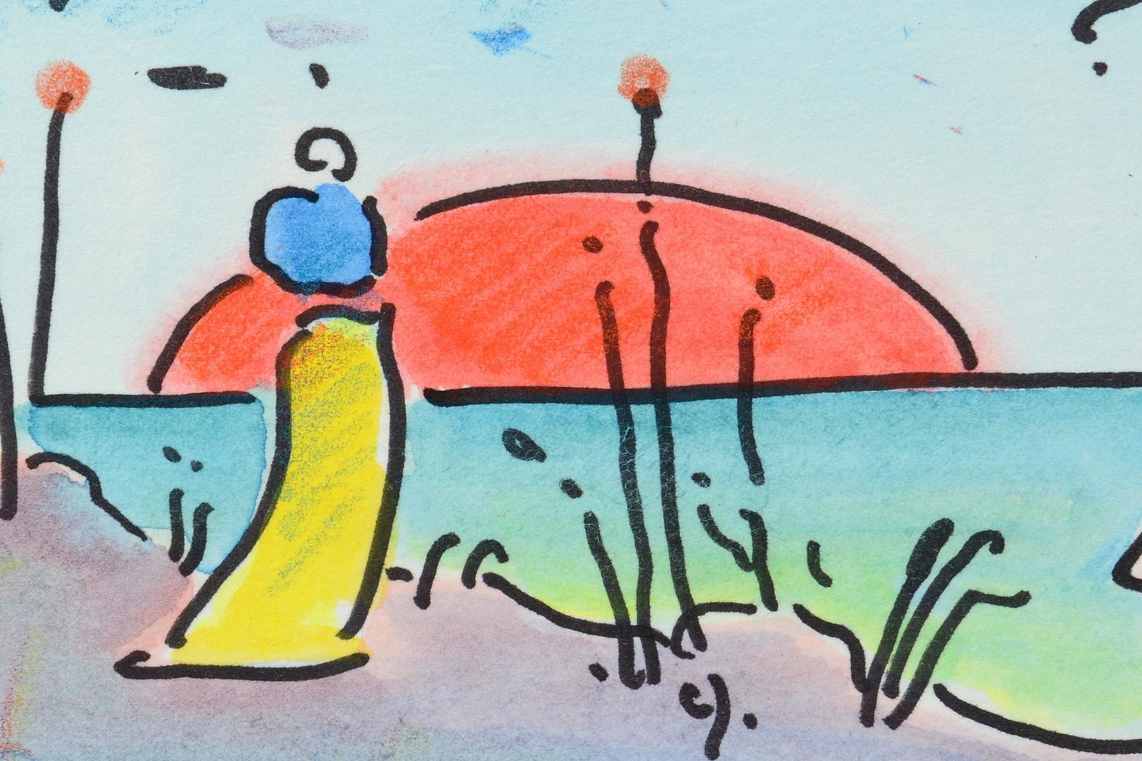 Lot 363: Peter Max Watercolor