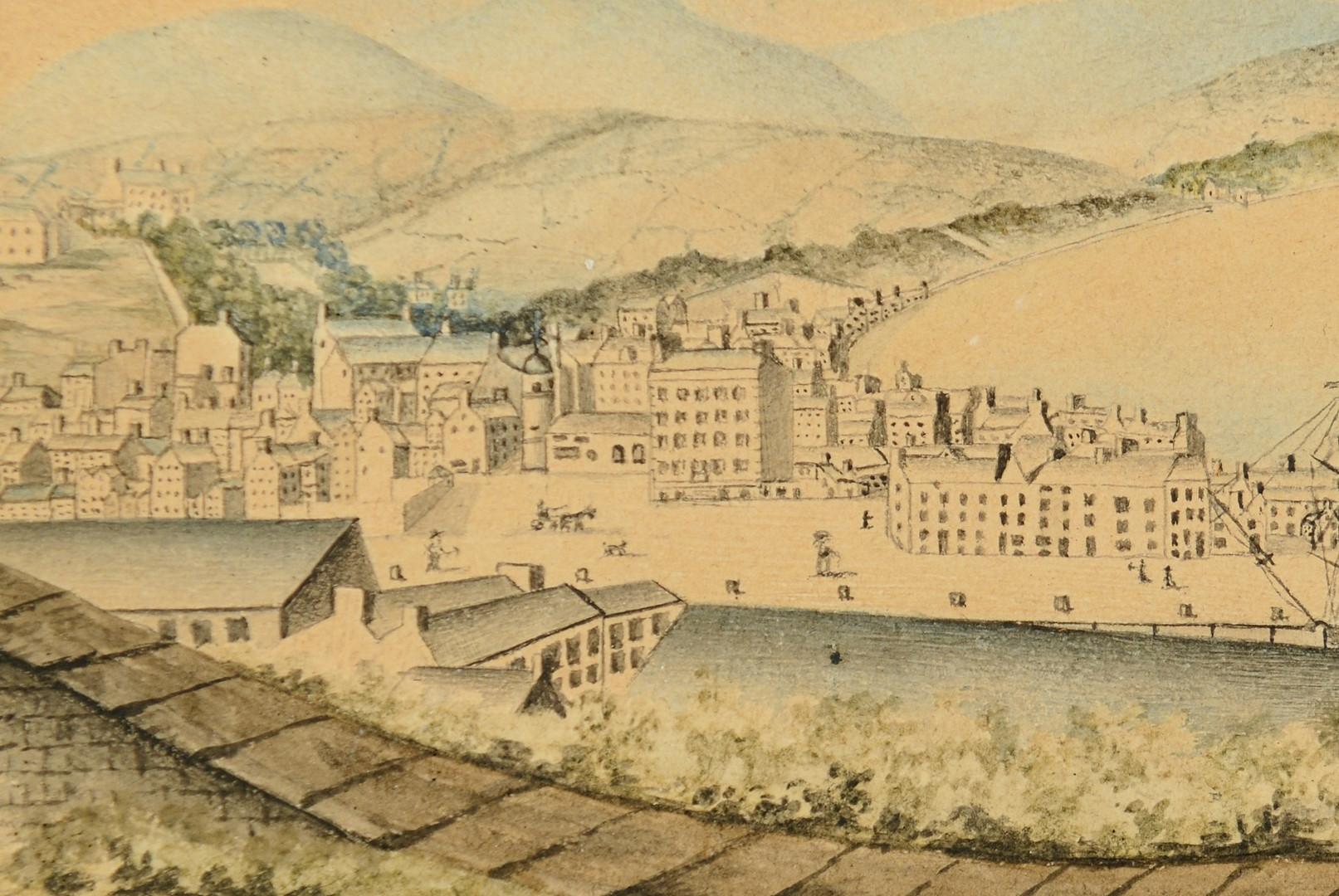 Lot 370: Isle of Man Watercolor & Ink
