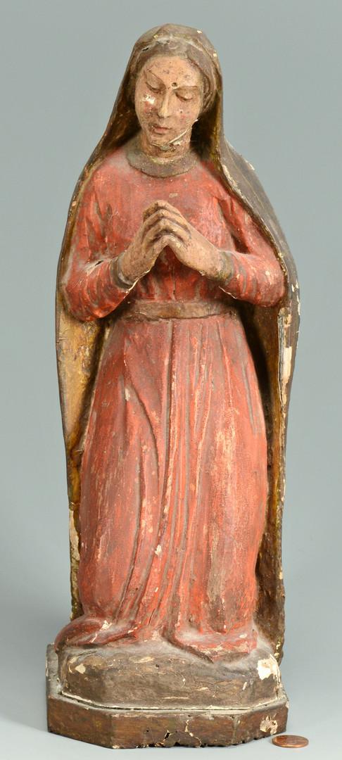 Lot 378: Santos, Crucifix & Icons, 5 items