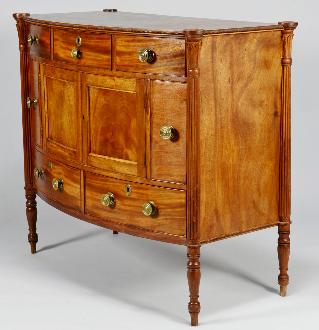 Lot 380: Federal Bowfront Sideboard