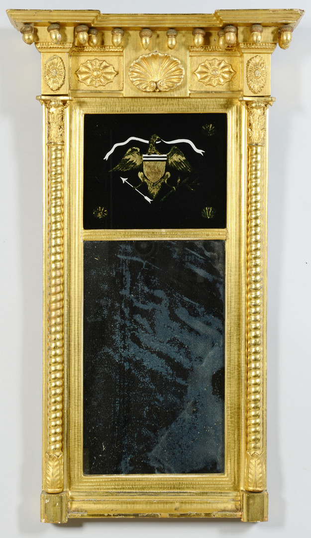 Lot 381: Federal Eglomise Mirror