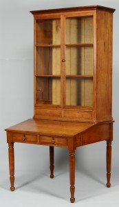 Lot 388: Middle TN Desk & Bookcase