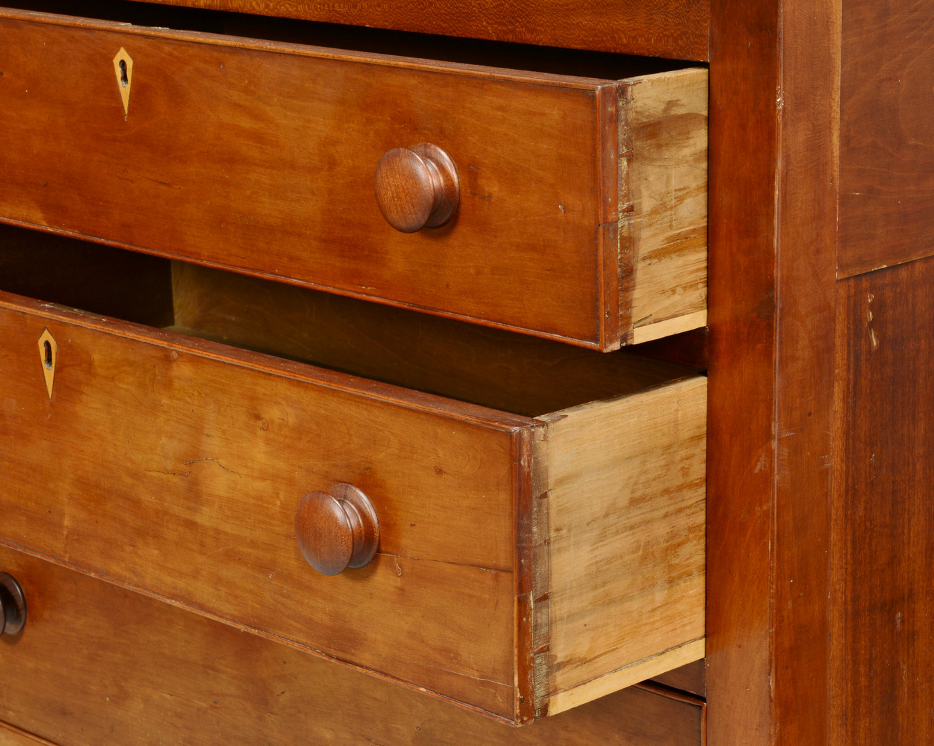 Lot 389: Tennessee Sheraton Cherry Chest of Drawers