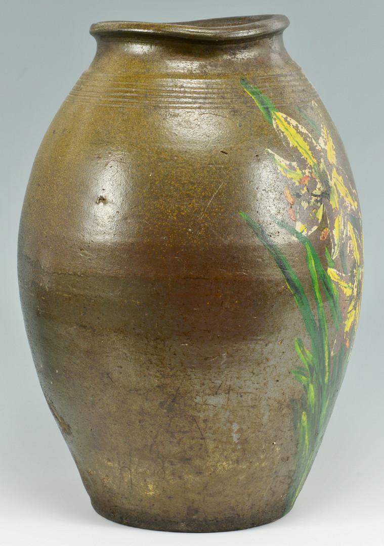 Lot 398: Middle TN Stoneware Pottery Jar