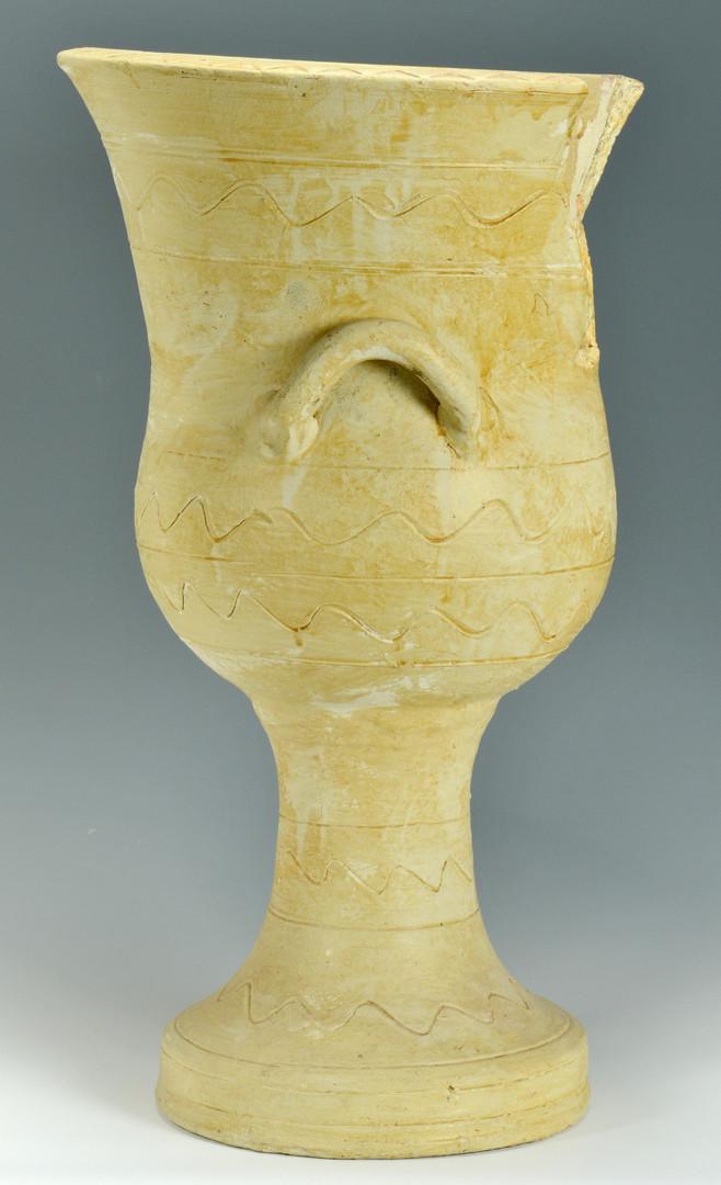 Lot 400: Large TN Decker Pottery Urn, Sine Waves