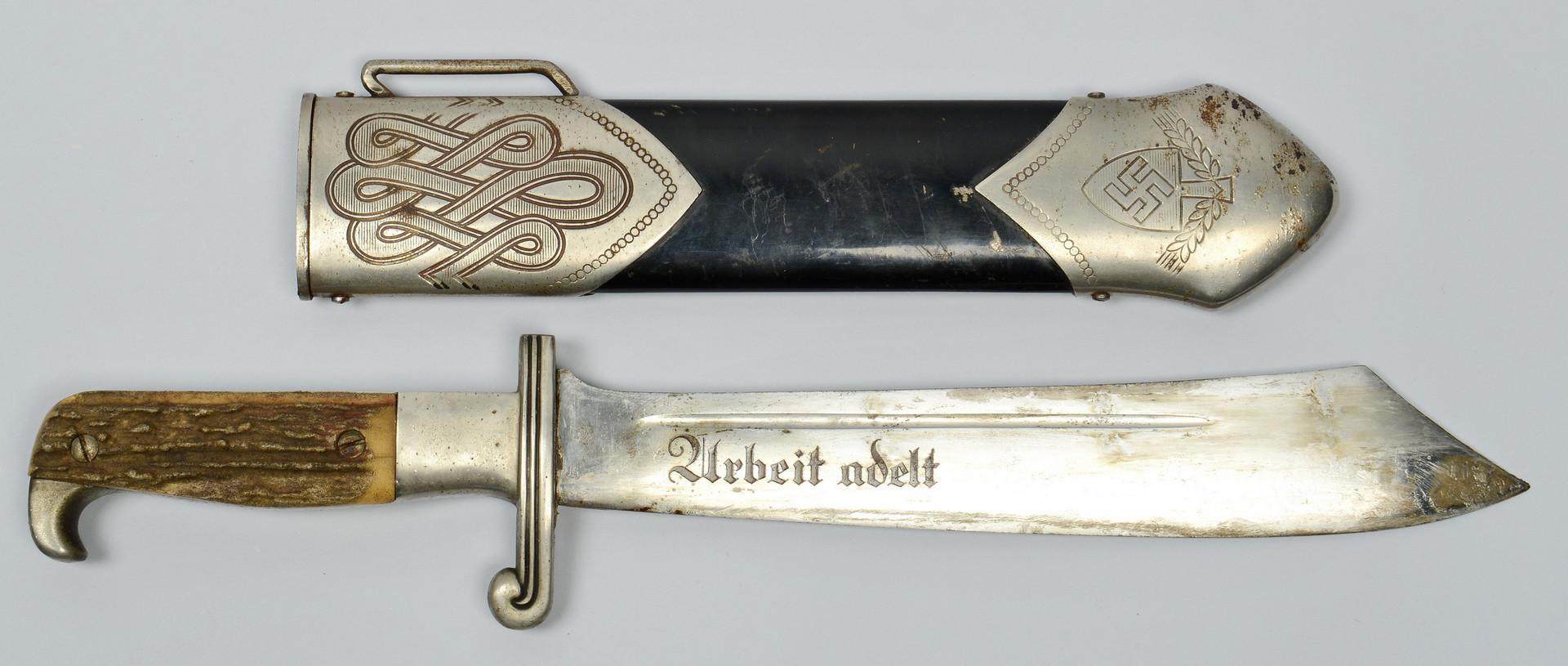 Lot 406: German WWII RAD M1934 Hewer Dagger