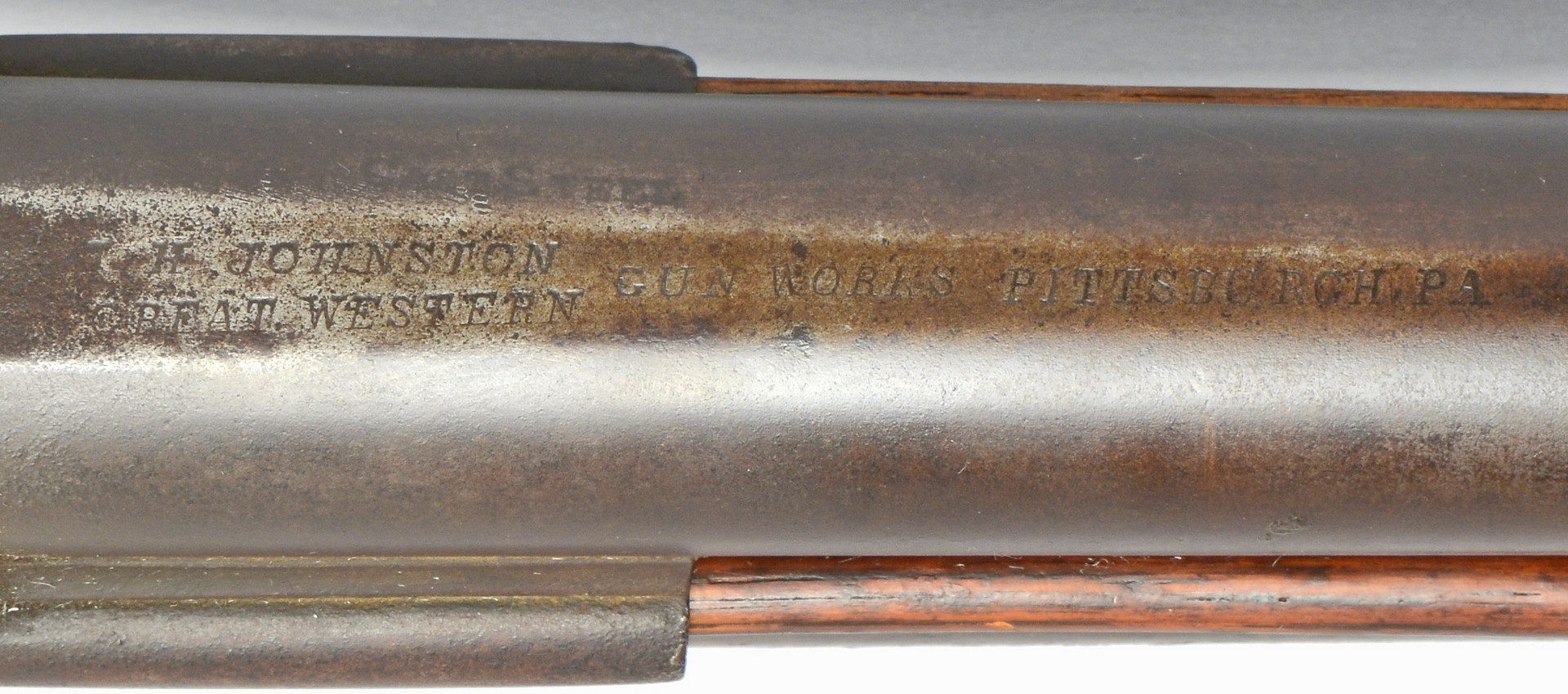 Lot 411: J. H. Johnston Rifle Over Shotgun Combination