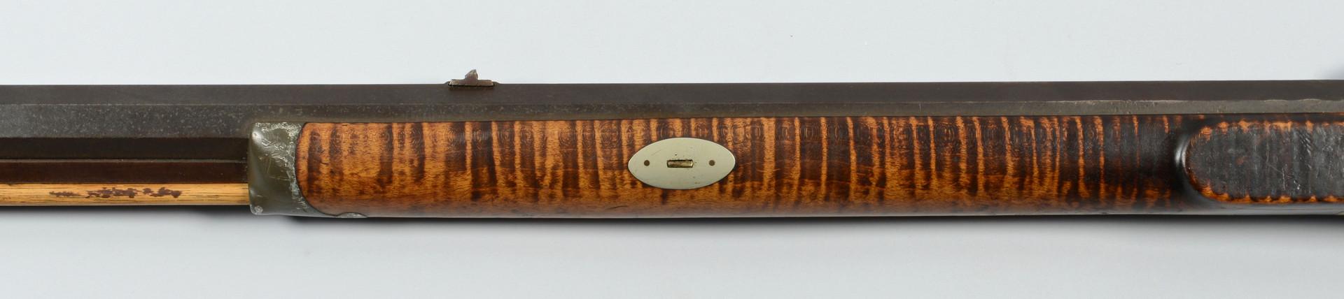 Lot 412: J. S. Burson Percussion Half-Stock Long Rifle