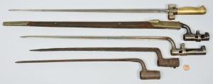 Lot 419: 5 War Era Bayonets incl Civil War