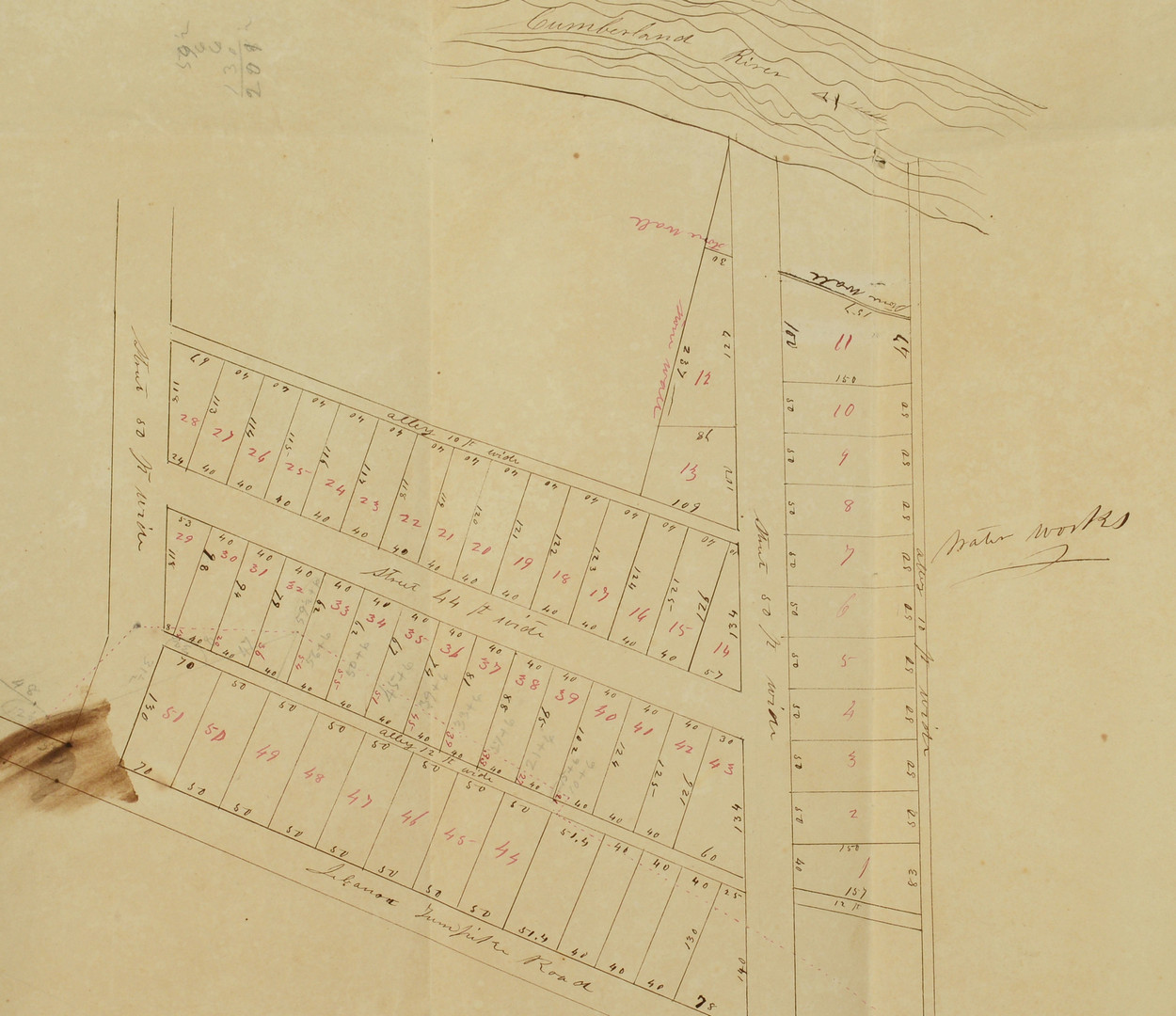 Lot 41: Abram P. Maury archive inc. map